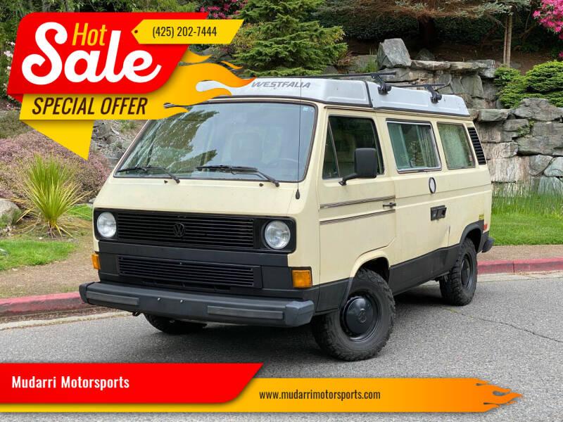 1984 Volkswagen Vanagon for sale in Kirkland, WA