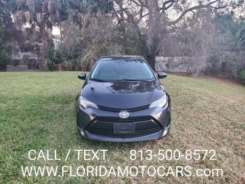 2017 Toyota Corolla for sale at Florida Motocars in Tampa FL