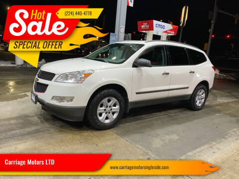 2012 Chevrolet Traverse for sale at Carriage Motors LTD in Ingleside IL