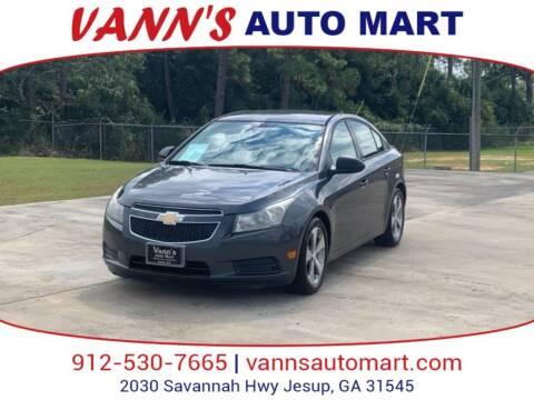 2013 Chevrolet Cruze for sale at VANN'S AUTO MART in Jesup GA