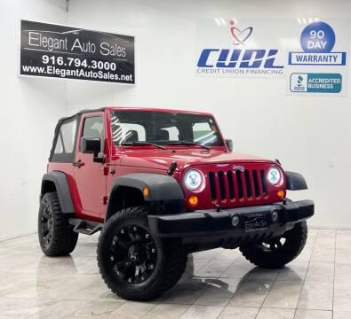 2012 Jeep Wrangler for sale at Elegant Auto Sales in Rancho Cordova CA