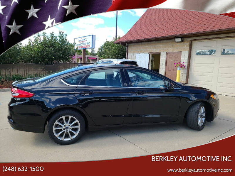 2017 Ford Fusion for sale at Berkley Automotive Inc. in Berkley MI