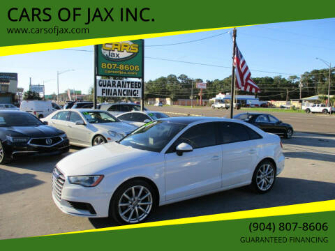 2015 Audi A3 for sale at CARS OF JAX INC. in Jacksonville FL