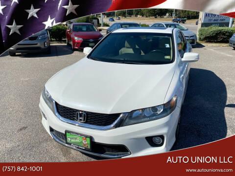 2015 Honda Accord for sale at Auto Union LLC in Virginia Beach VA