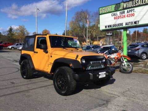 2012 Jeep Wrangler for sale at Giguere Auto Wholesalers in Tilton NH