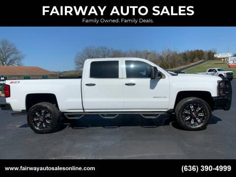 2015 Chevrolet Silverado 2500HD for sale at FAIRWAY AUTO SALES in Washington MO