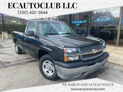 2003 Chevrolet Silverado 1500 for sale at ECAUTOCLUB LLC in Kent OH