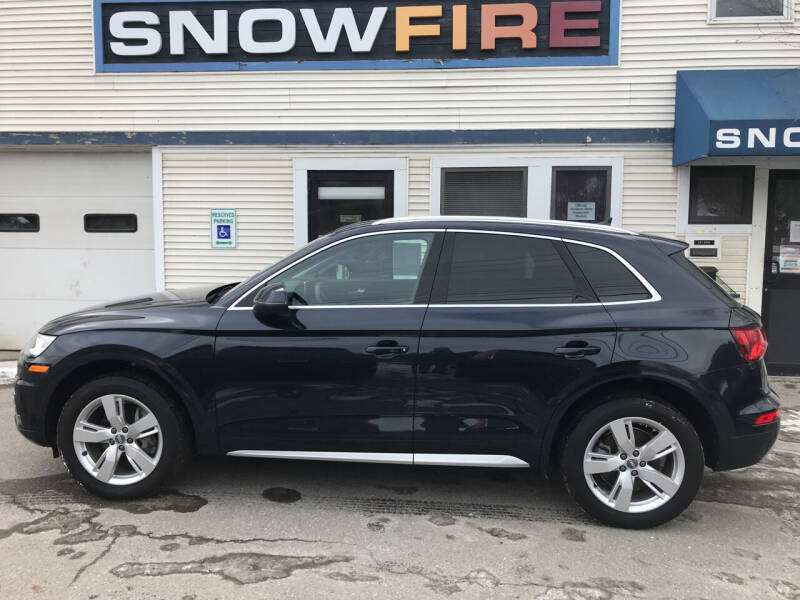 2018 Audi Q5 for sale at Snowfire Auto in Waterbury VT