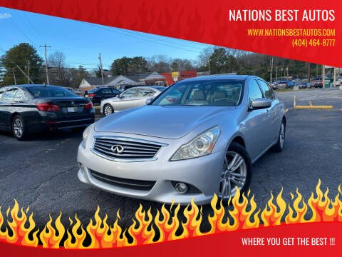 2010 Infiniti G37 Sedan for sale at Nations Best Autos in Decatur GA