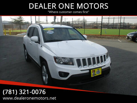 2014 Jeep Compass for sale at DEALER ONE MOTORS in Malden MA