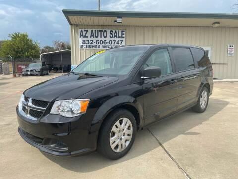 2016 Dodge Grand Caravan for sale at AZ Auto Sale in Houston TX