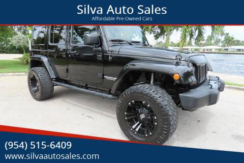 2012 Jeep Wrangler Unlimited for sale at Silva Auto Sales in Pompano Beach FL