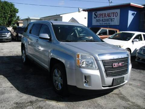 2011 GMC Terrain for sale at SUPERAUTO AUTO SALES INC in Hialeah FL