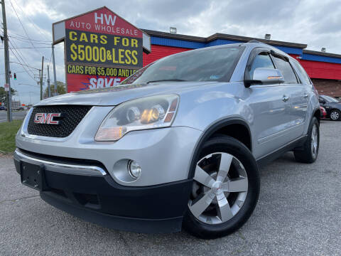 2012 GMC Acadia for sale at HW Auto Wholesale in Norfolk VA