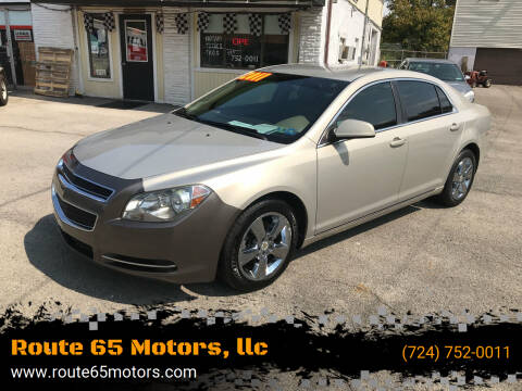 2011 Chevrolet Malibu for sale at Route 65 Motors, llc in Ellwood City PA