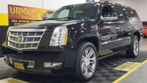 2013 Cadillac Escalade ESV for sale at UNIQUE SPECIALTY & CLASSICS in Mankato MN