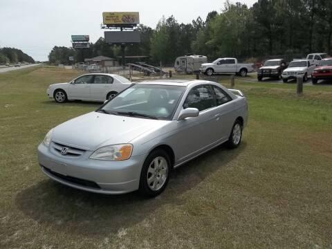 2002 Honda Civic for sale at Anderson Wholesale Auto in Warrenville SC