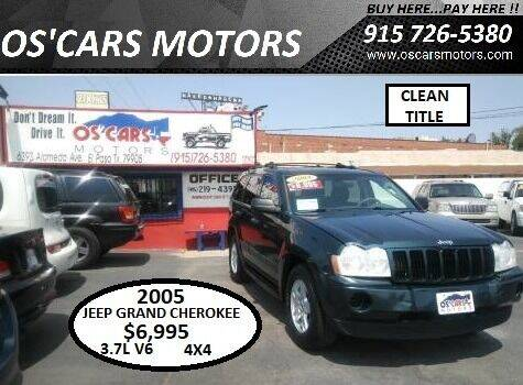 2005 Jeep Grand Cherokee for sale at Os'Cars Motors in El Paso TX