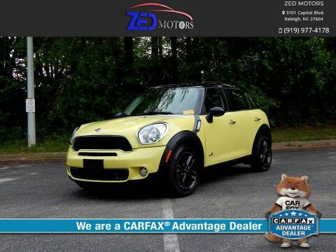 2012 MINI Cooper Countryman for sale at Zed Motors in Raleigh NC