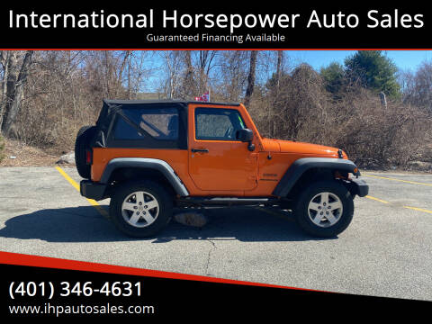 2012 Jeep Wrangler for sale at International Horsepower Auto Sales in Warwick RI