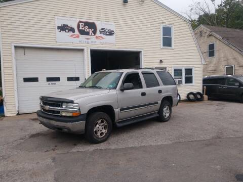 2005 Chevrolet Tahoe for sale at E & K Automotive in Derry NH