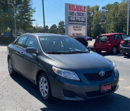 2010 Toyota Corolla for sale at Reliable Cars & Trucks LLC in Raleigh NC
