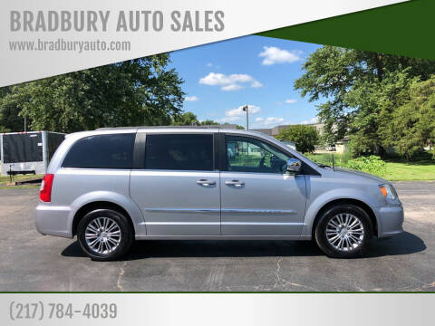 2014 Chrysler Town and Country for sale at BRADBURY AUTO SALES in Gibson City IL