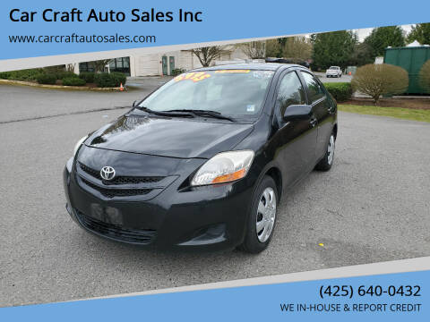 2007 Toyota Yaris for sale at Car Craft Auto Sales Inc in Lynnwood WA