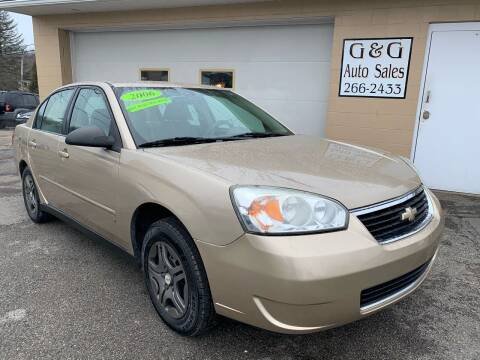 2006 Chevrolet Malibu for sale at G & G Auto Sales in Steubenville OH