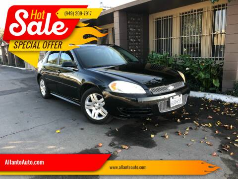 2012 Chevrolet Impala for sale at AllanteAuto.com in Santa Ana CA