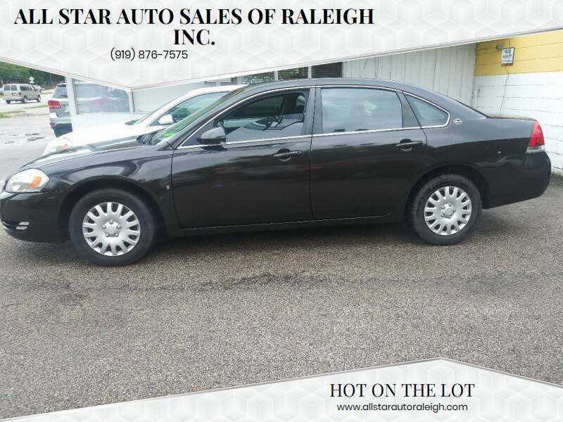 2008 Chevrolet Impala for sale at All Star Auto Sales of Raleigh Inc. in Raleigh NC