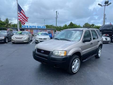 2001 Ford Escape for sale at KD's Auto Sales in Pompano Beach FL