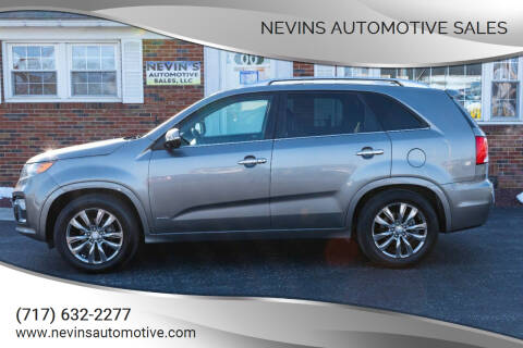 2012 Kia Sorento for sale at Nevins Automotive Sales in Hanover PA