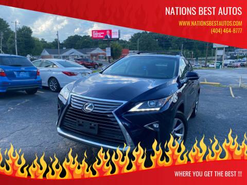 2016 Lexus RX 350 for sale at Nations Best Autos in Decatur GA