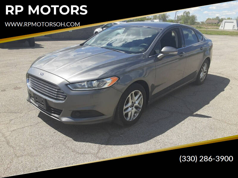 2014 Ford Fusion for sale at RP MOTORS in Canfield OH