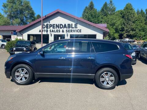 2017 Chevrolet Traverse for sale at Dependable Auto Sales and Service in Binghamton NY