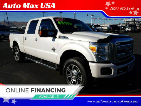 2013 Ford F-350 Super Duty for sale at Auto Max USA in Yakima WA