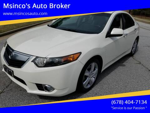 2011 Acura TSX for sale at Msinco's Auto Broker in Snellville GA