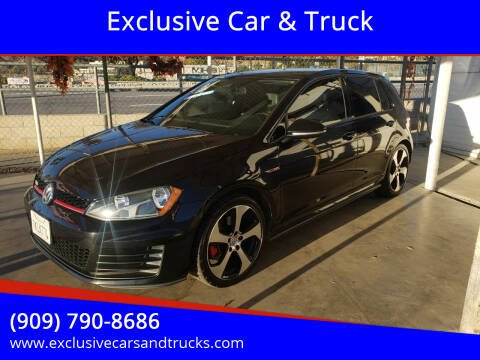 2015 Volkswagen Golf GTI for sale at Exclusive Car & Truck in Yucaipa CA