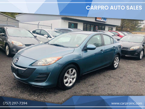 2010 Mazda MAZDA3 for sale at Carpro Auto Sales in Chesapeake VA
