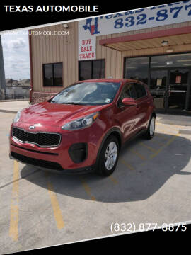 2017 Kia Sportage for sale at TEXAS AUTOMOBILE in Houston TX