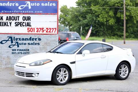 2007 Hyundai Tiburon for sale at Alexander's Auto Sales in North Little Rock AR