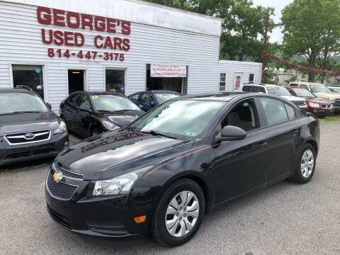 2013 Chevrolet Cruze for sale at George's Used Cars Inc in Orbisonia PA