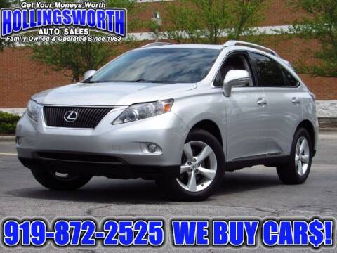 2010 Lexus RX 350 for sale at Hollingsworth Auto Sales in Raleigh NC
