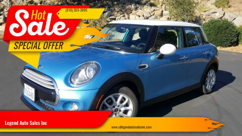 2015 MINI Hardtop 4 Door for sale at Legend Auto Sales Inc in Lemon Grove CA