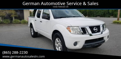 2012 Nissan Frontier for sale at German Automotive Service & Sales in Knoxville TN