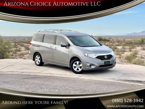 2012 Nissan Quest for sale at Arizona Choice Automotive LLC in Mesa AZ