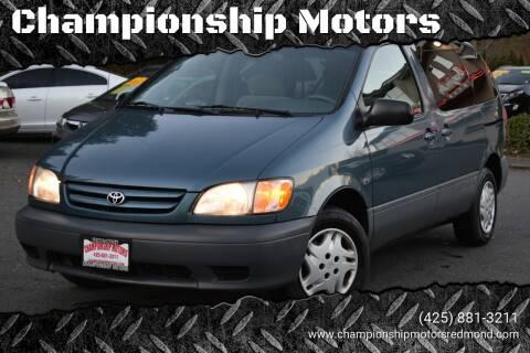 2003 Toyota Sienna for sale at Mudarri Motorsports - Championship Motors in Redmond WA