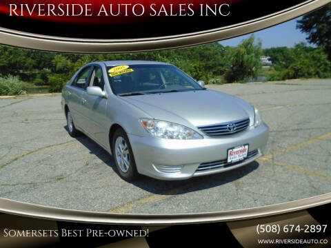 2005 Toyota Camry for sale at RIVERSIDE AUTO SALES INC in Somerset MA