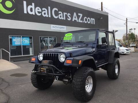 2001 Jeep Wrangler for sale at Ideal Cars Broadway in Mesa AZ